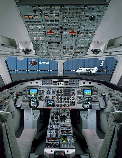 Saab 340A: First Night Panel Images Emerge